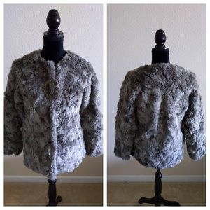 H&M Faux Fur Gray Coat